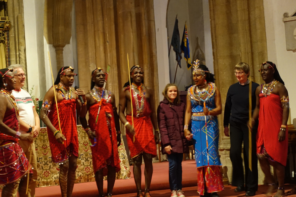 The Osiligi Maasai Warriors perform at St Nicholas Church